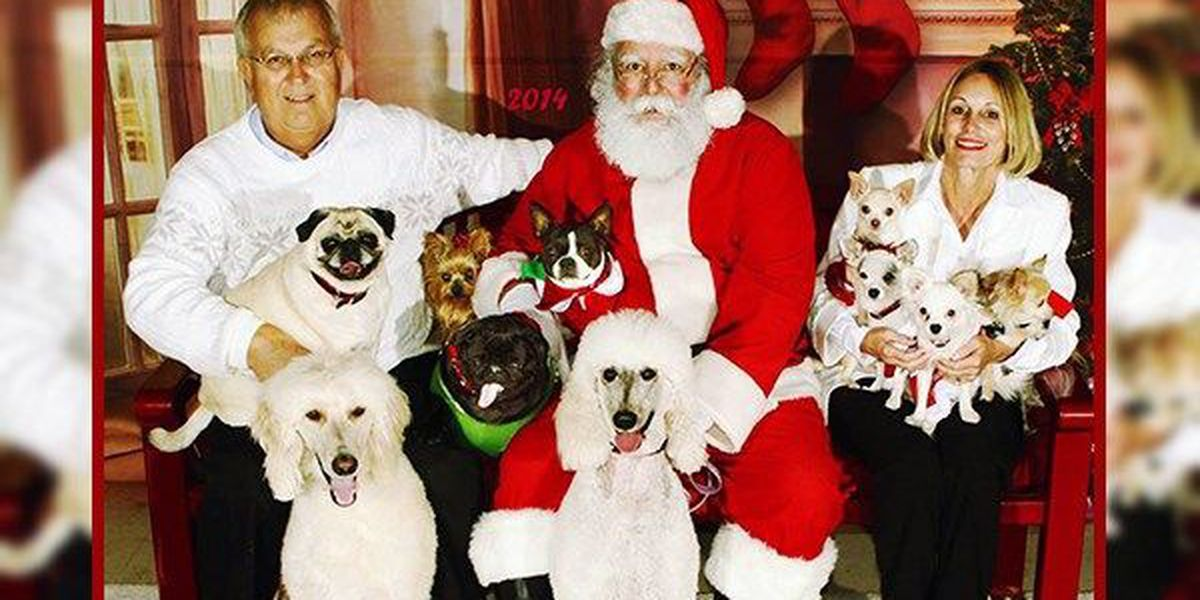 Pets can take pictures with Santa this weekend