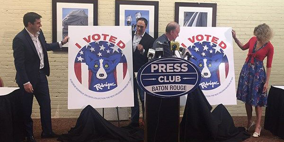 Rodrigue's Blue Dog to appear on 'I VOTED' stickers this year