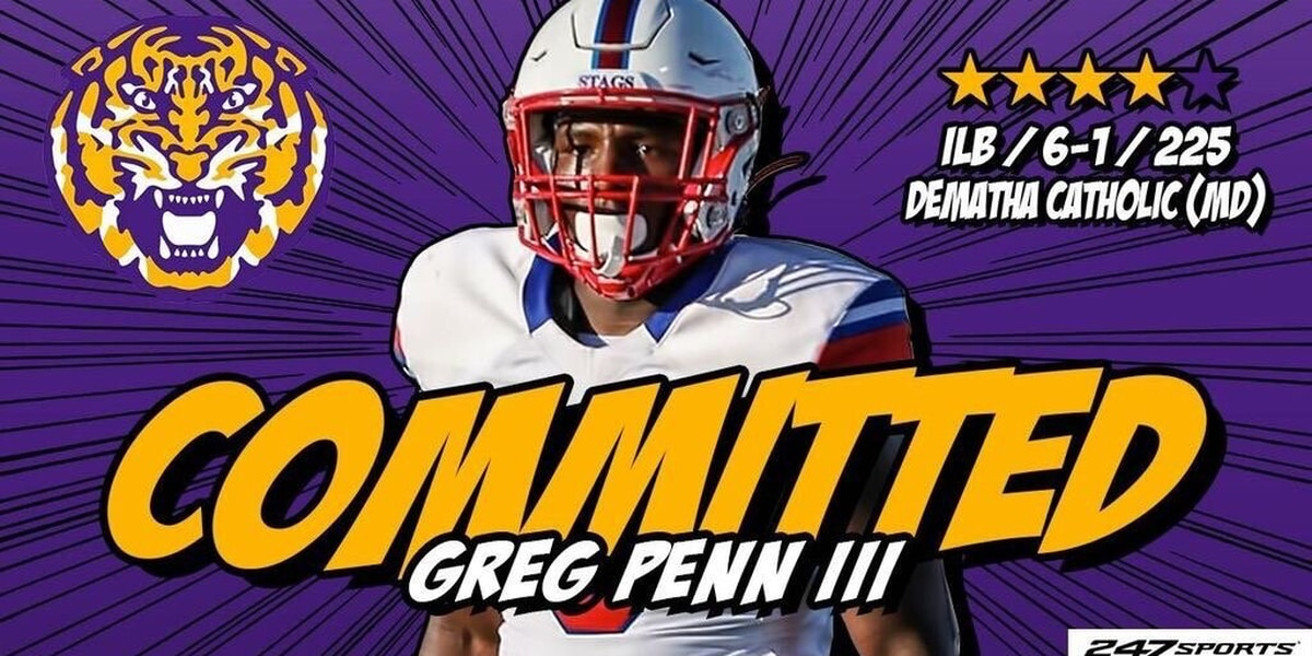 HOLD THAT TIGER! LSU picks up commitment No. 16 from Four-star LB Greg Penn