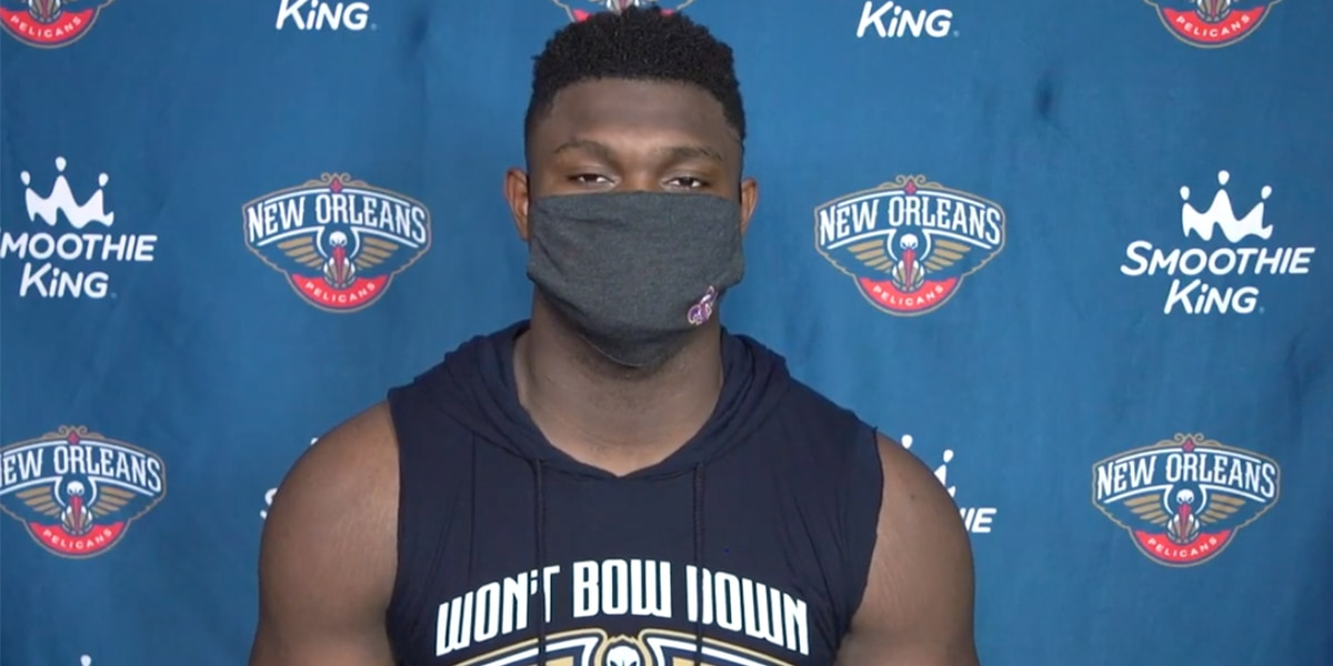 Pelicans' Zion Williamson encourages Louisianans to 'stay safe and wear your mask' in new video