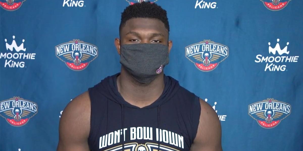 Zion不是感染新冠病毒的三名鵜鶘球員之一!