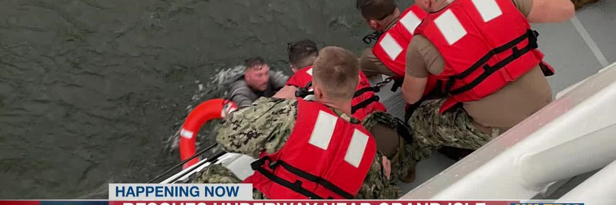 US Coast Guard provides new images from rescue and search near Grand Isle
