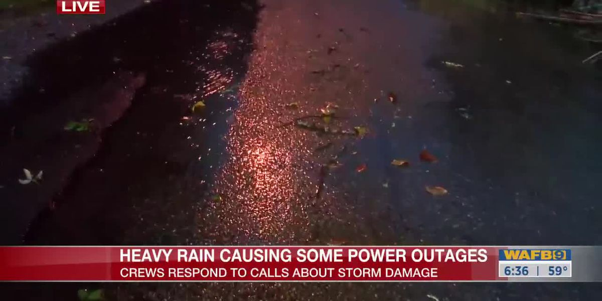 Heavy rain causing some power outages