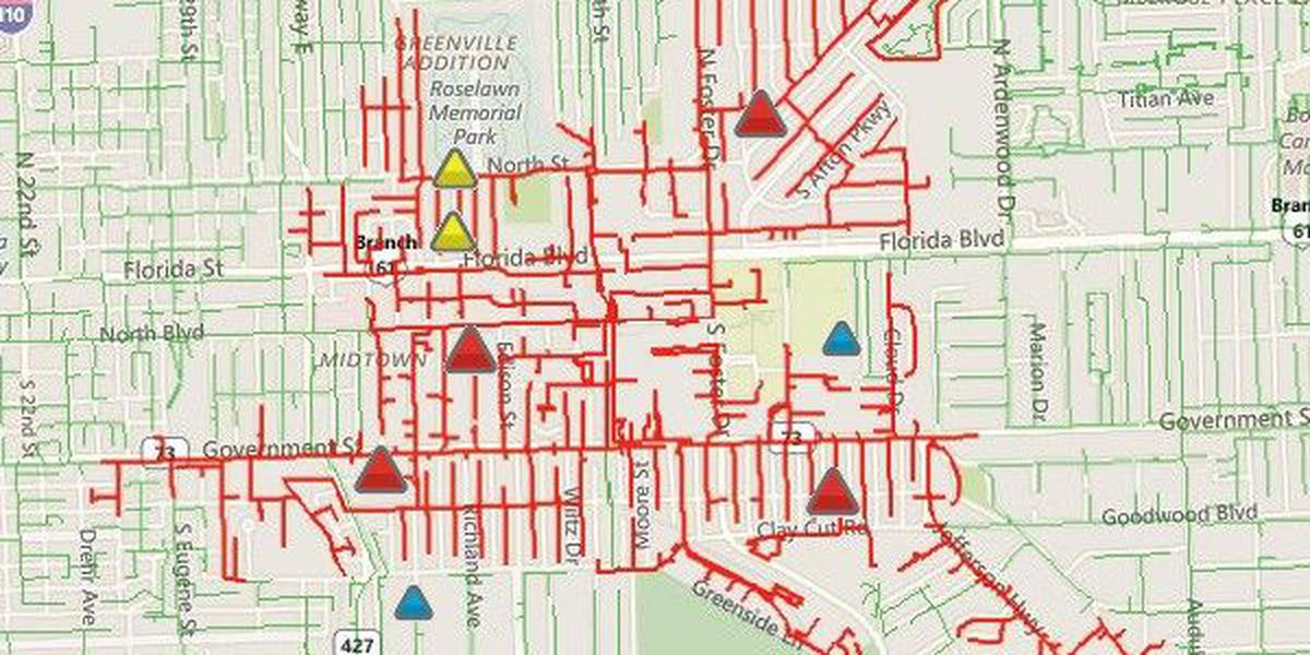 More than 3800 people without power in Mid-City