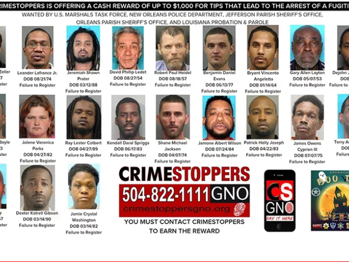 OPERATION BOO DAT: 26 sex offenders arrested
