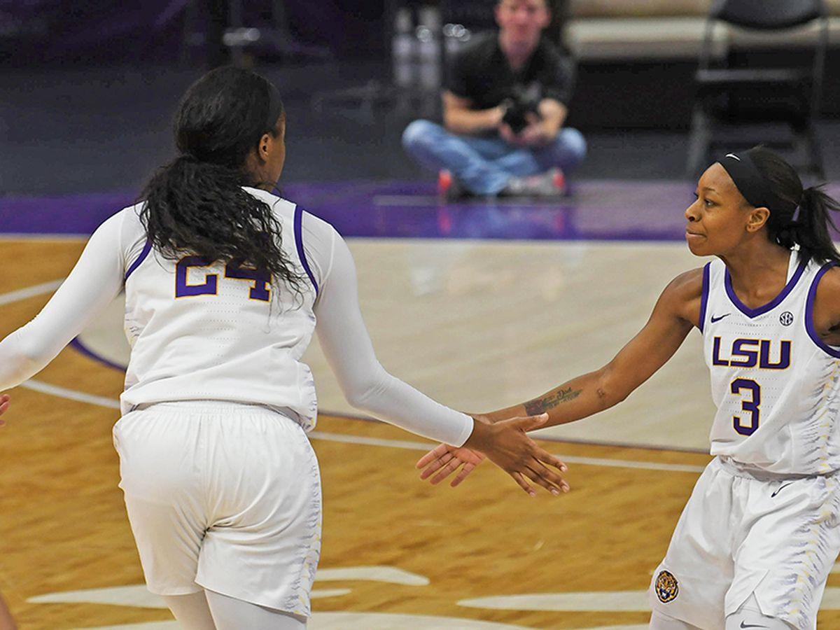LSU women's basketball defeats Tennessee