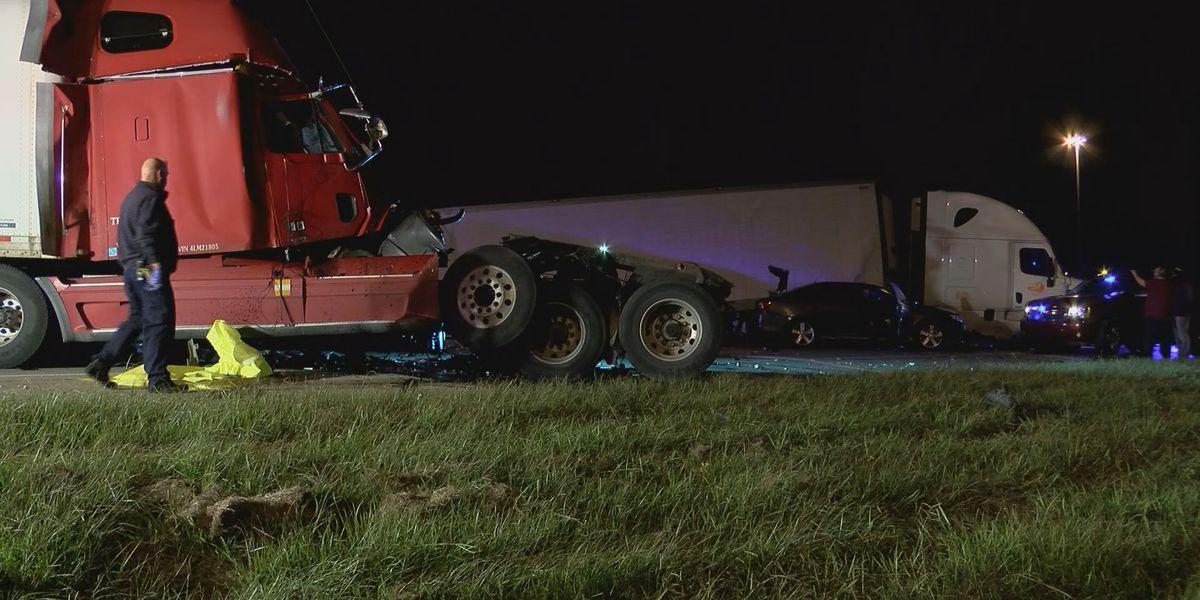 EBRSO deputy's unit among 4 vehicles involved in I-12 pileup