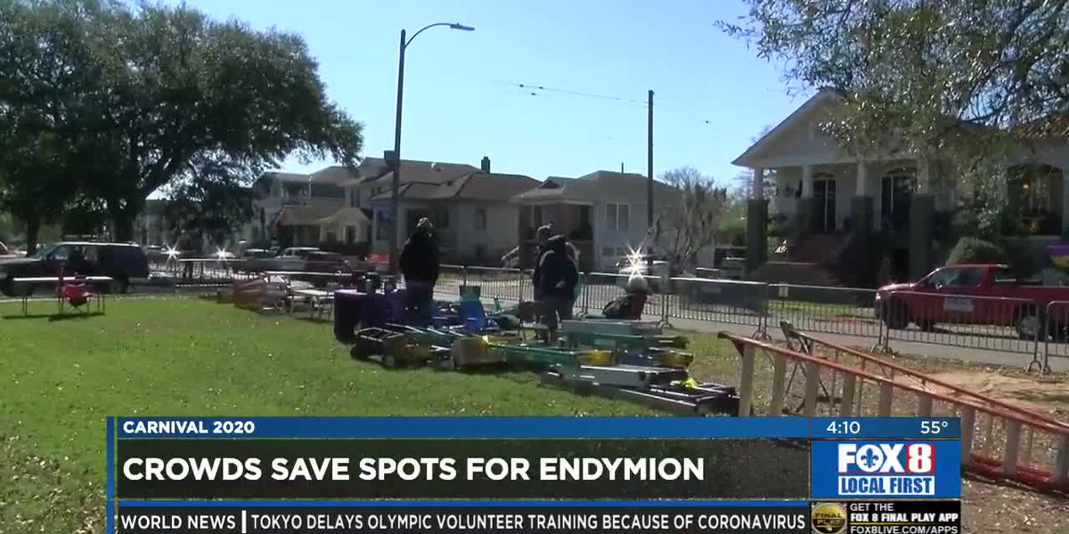 Revelers begin to campout along Endymion route