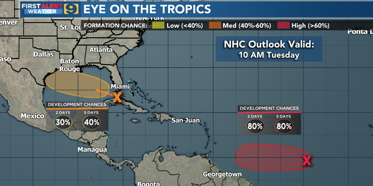 Gonzalo expected to reach hurricane strength. Gulf storm system could become Hanna