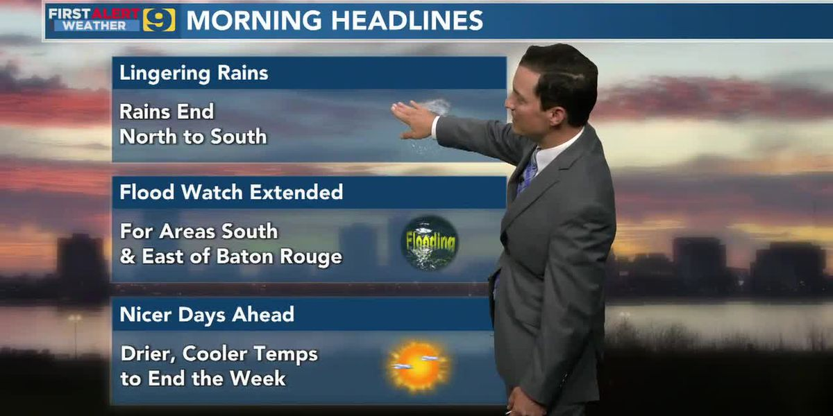 FIRST ALERT FORECAST: Wednesday, May 5 - 6 a.m.