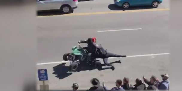 Police officer dragged by ATV as 100 off-road drivers illegally take over Nashville streets