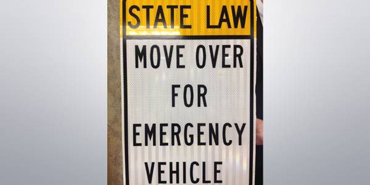 Signs going up to remind drivers to 'Move Over'