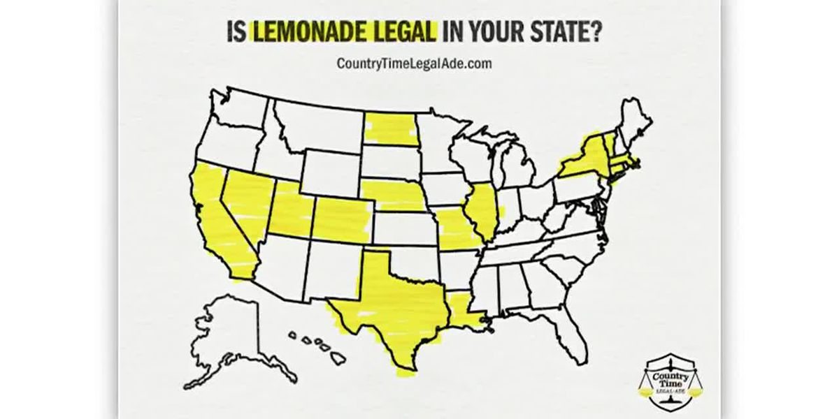 Lemonade stands are only legal in 14 states: Country Time wants to change that