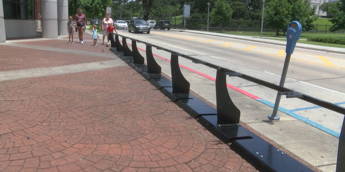 Gotcha bike docks installed in downtown Baton Rouge