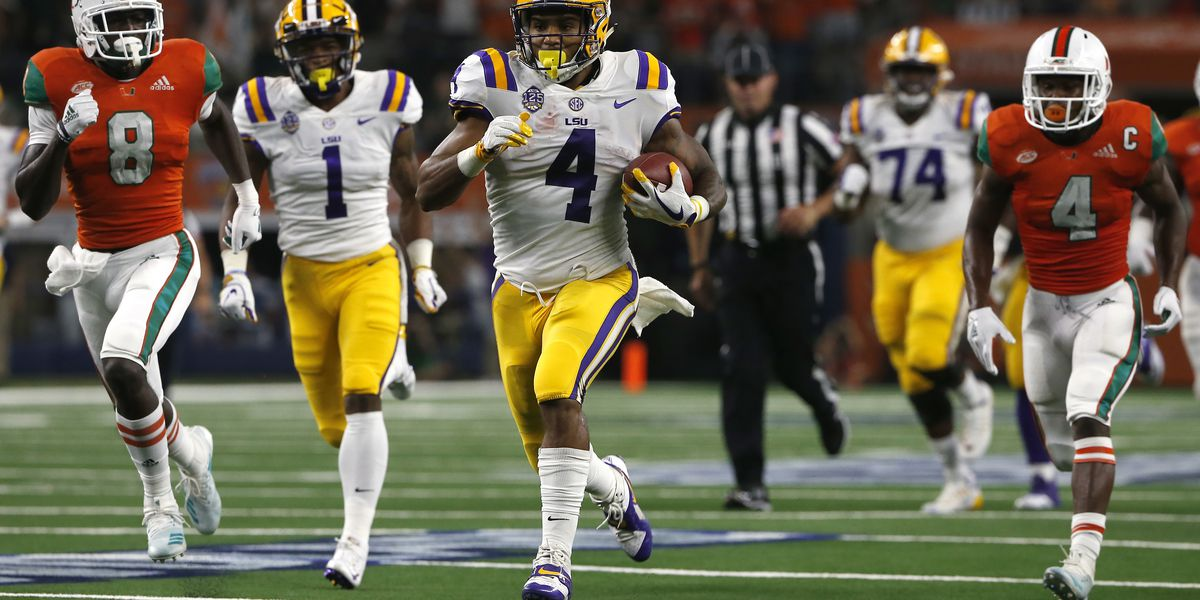 LSU dominates early, storms past No. 8 Miami, 33-17