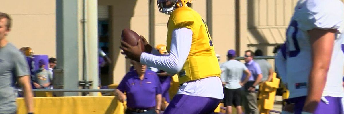 TJ Finley talks about LSU's offense and QB room so far this spring