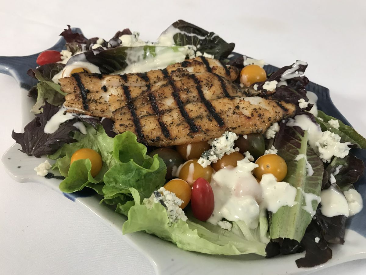 Grilled Catfish Salad