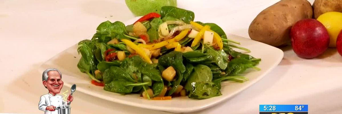 Stirrin' It Up: Spinach Salad with Sauteed Louisiana Pears (May 14, 2019)