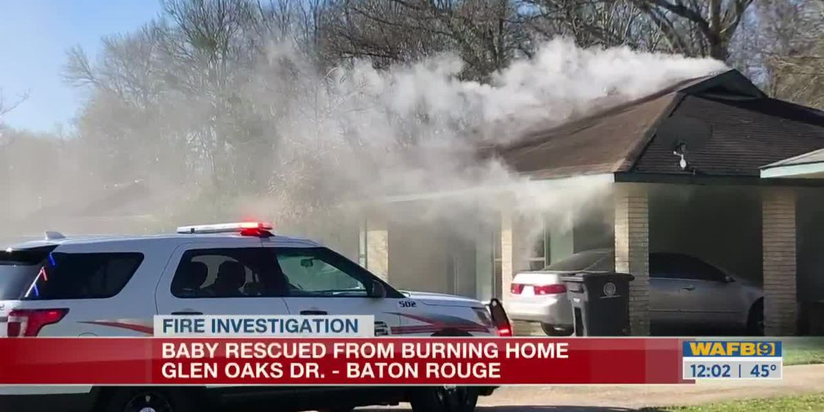 Baby rescued from burning home