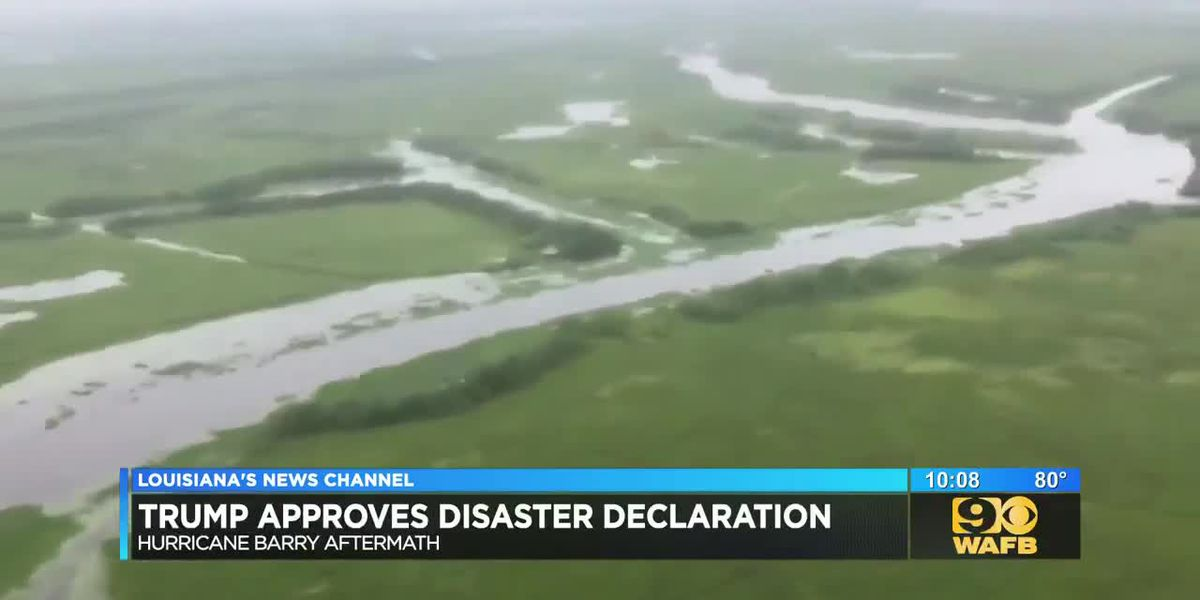 President Trump approves disaster declaration for La. areas affected by Hurricane Barry