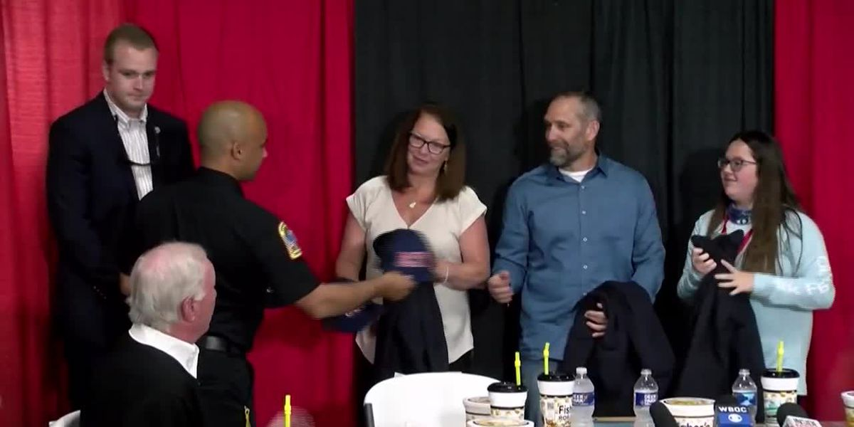 Hero honored for saving toddler ejected into water during car crash