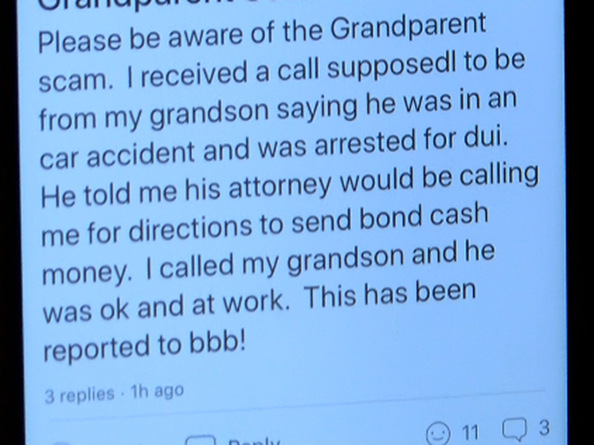 Grandparent scam: One Lake Area man warns others of scam call