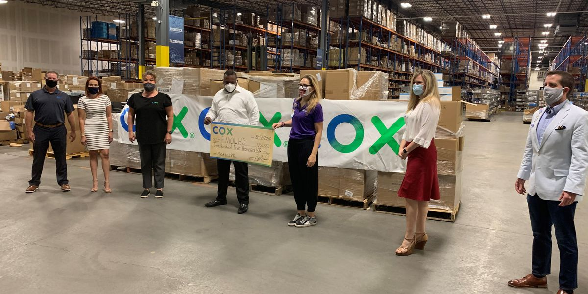 Cox donates 135,000 face masks to OLOL