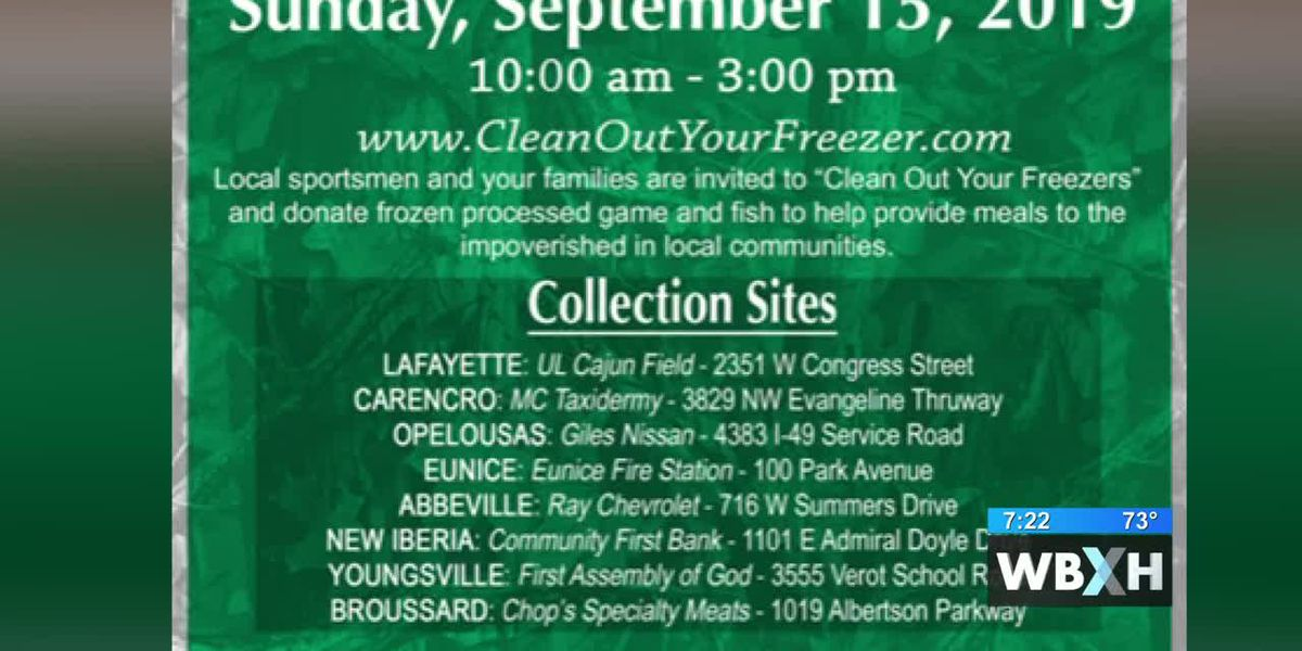 Clean out your freezer food drive