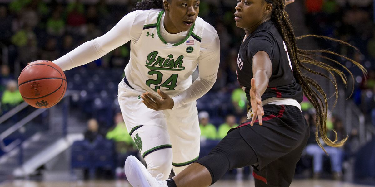 Ogunbowale, No. 1 Irish open with 103-58 rout of Harvard
