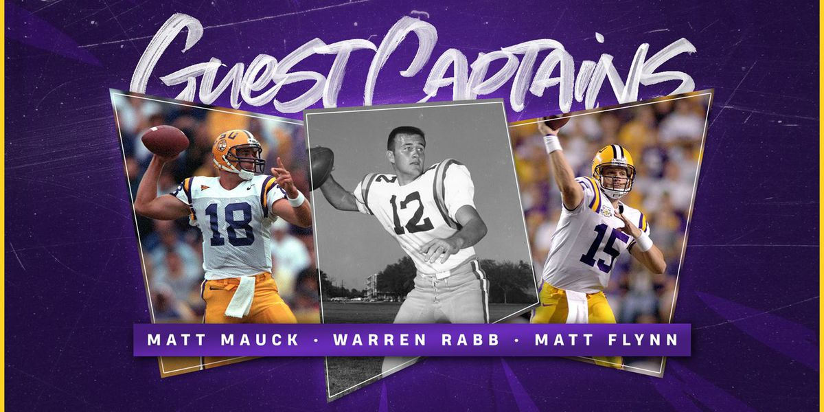 3 National Championship QBs to serve as LSU's guest captains for Florida game