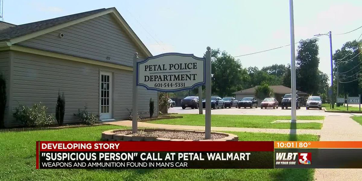 Armed man in custody after 'suspicious person' call from Petal Walmart