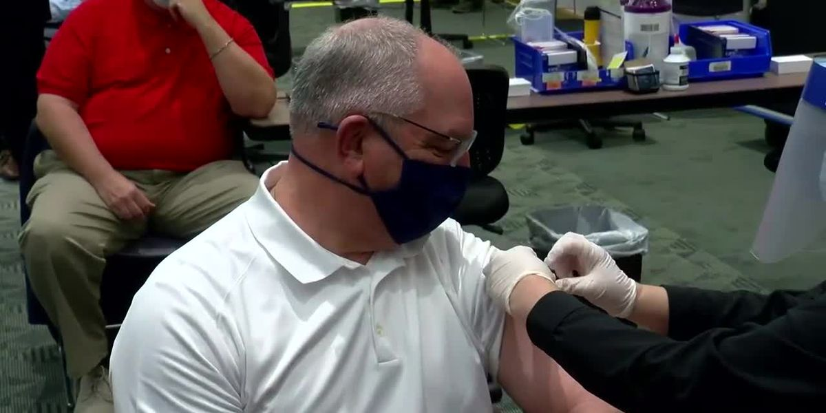 Gov. Edwards on coronavirus restrictions, Baton Rouge's first mass vaccination site