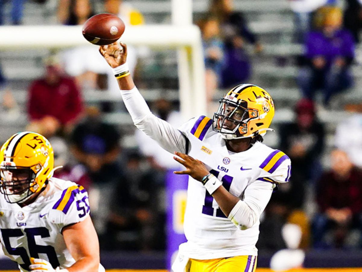 True freshman Finley looks confident and comfortable, leading LSU to win over South Carolina