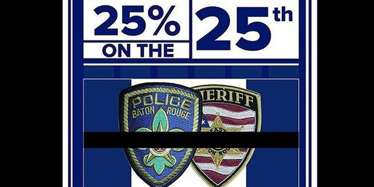 Baton Rouge area restaurants to donate percentage of proceeds to families of fallen officers