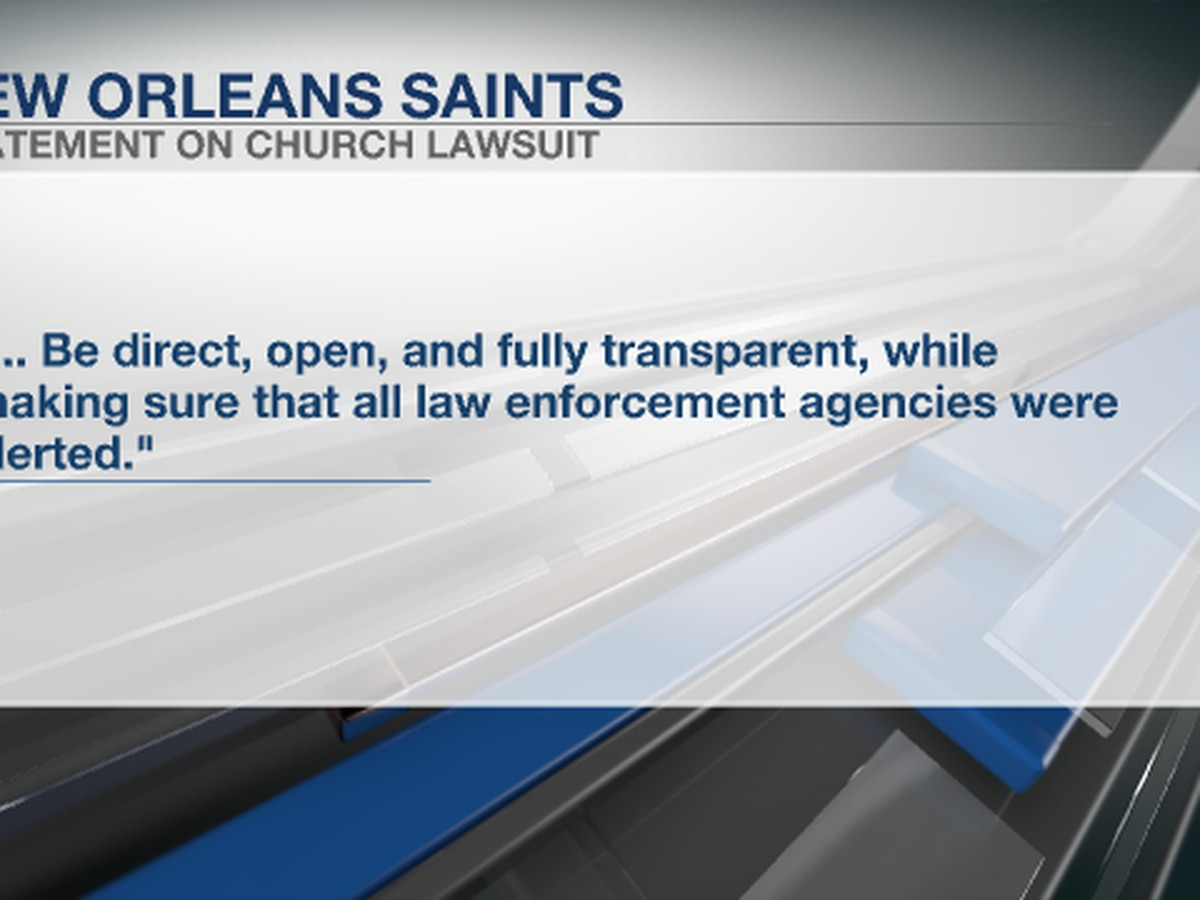 Alleged victim, Saints fan reacts to team's reported role in church sex abuse lawsuit