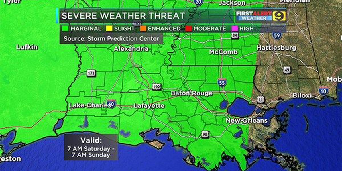 Storms could put a damper on weekend plans