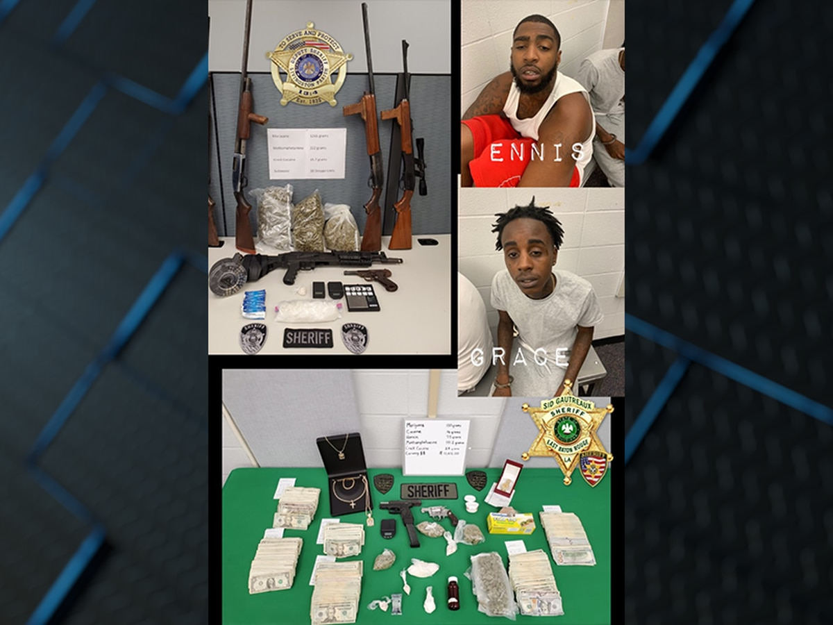 La. law enforcement agencies seize drugs, disrupt drug distribution network after month-long joint operation