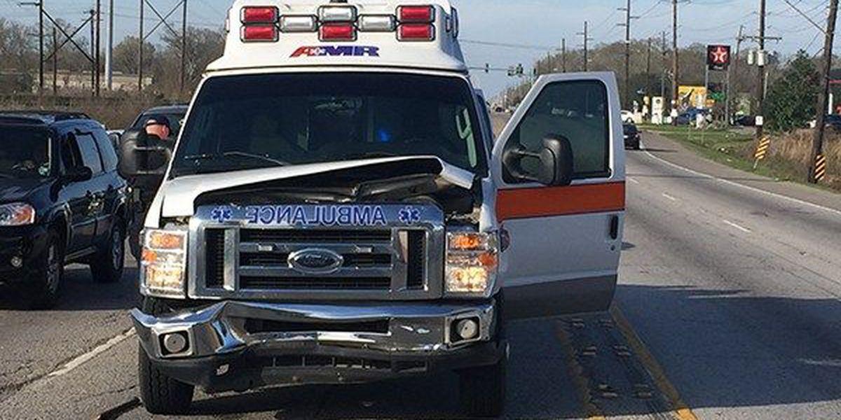 EMS reports crash involving ambulance