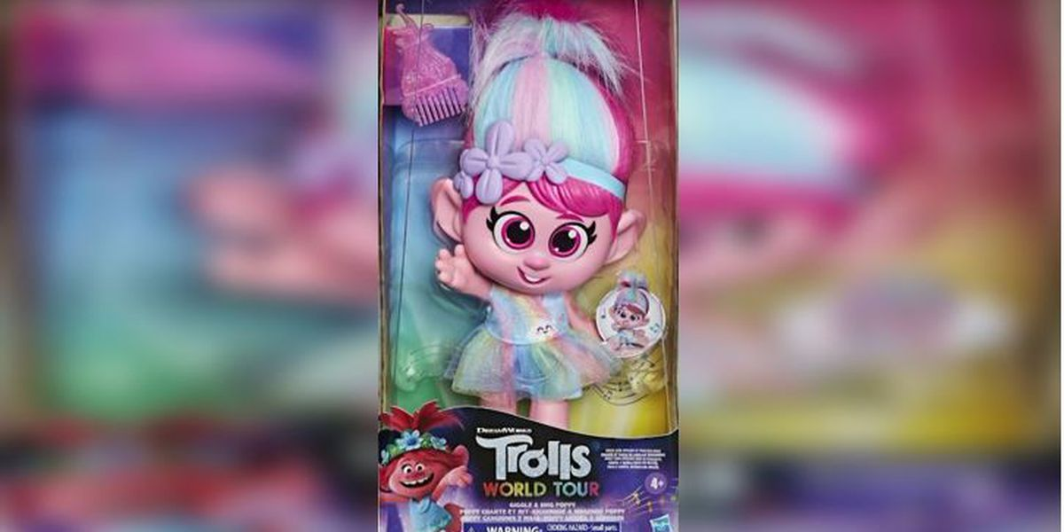 Hasbro pulls Trolls doll after complaints of inappropriately placed button