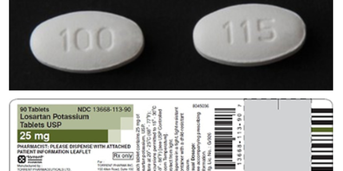 Torrent Pharmaceuticals Limited expands recall of Losartan potassium tablets again