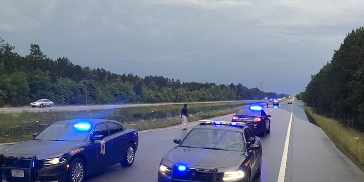 UPDATE: Highway 49 reopened after sections shut down due to flooding