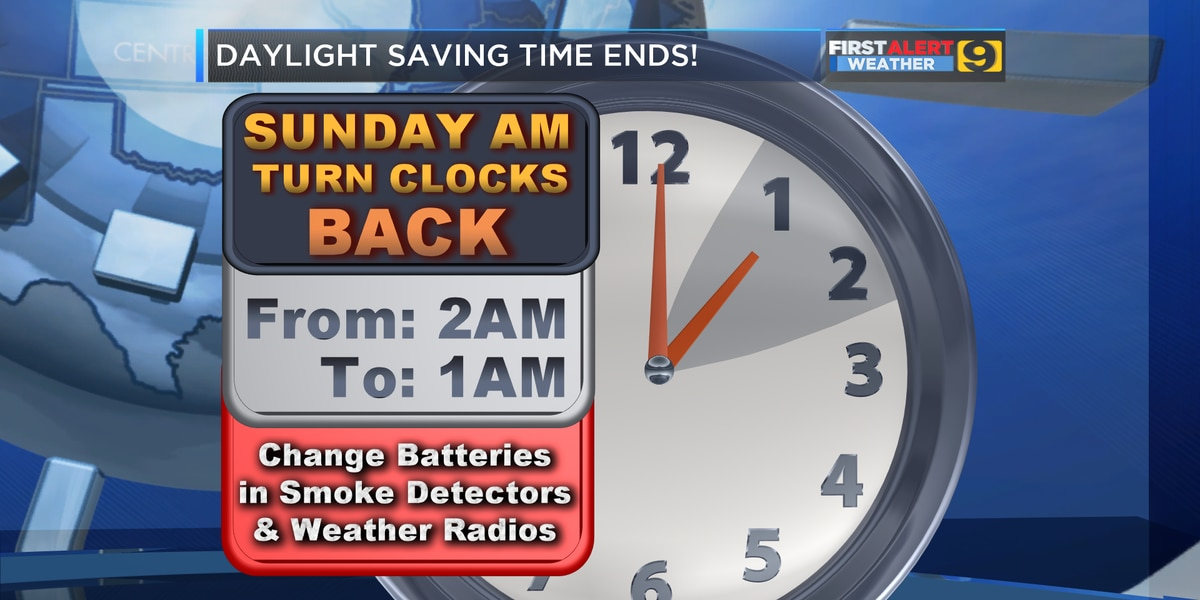 FIRST ALERT FORECAST: Don't forget to turn clocks back one hour tonight