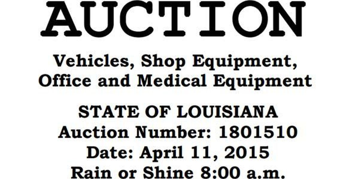 PHOTOS: State of Louisiana to sell 83 state vehicles, other items in April 11 auction