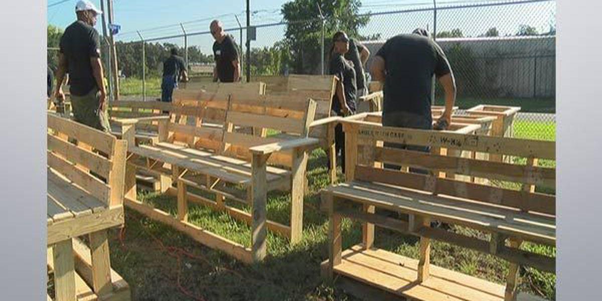 Volunteers honor homeless Veterans to commemorate 9/11