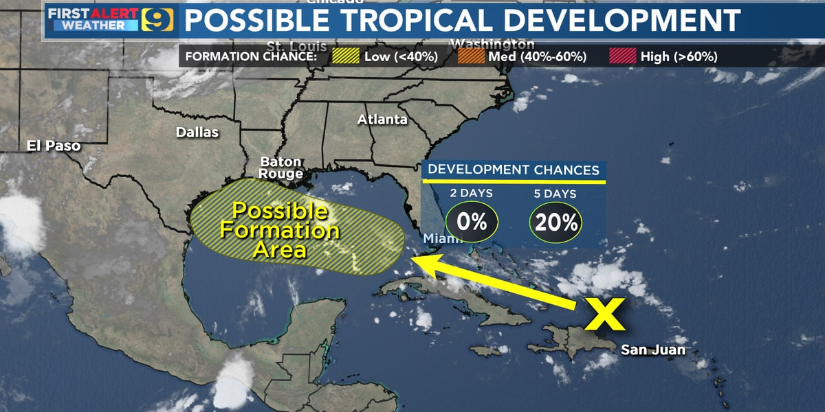 FIRST ALERT FORECAST: Summer pattern remains; watching Gulf later this week