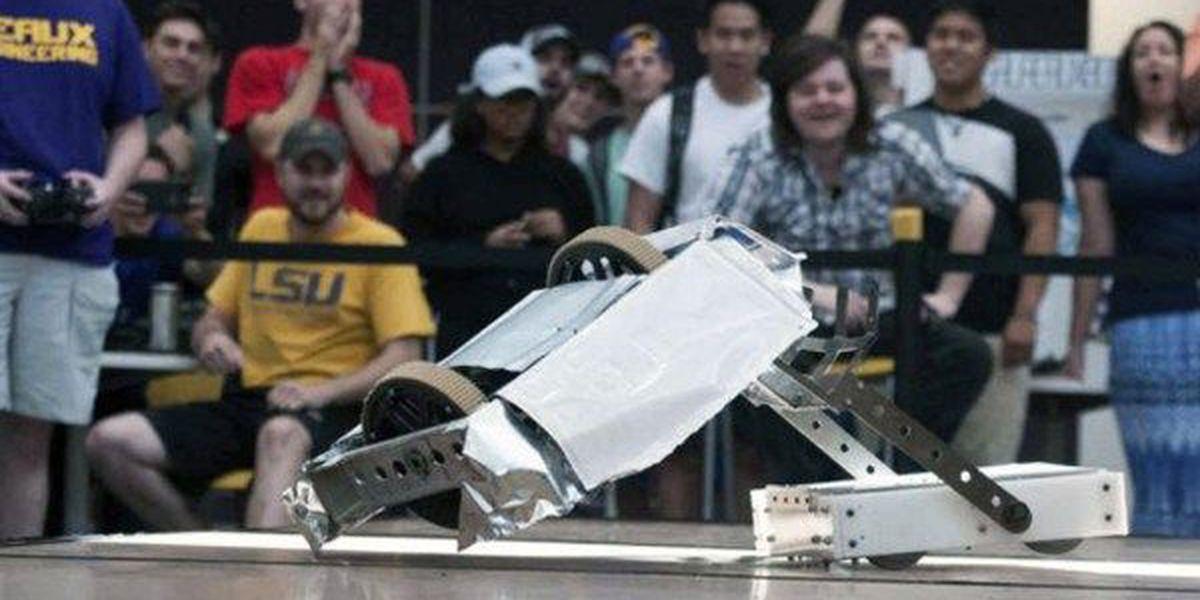 2 robots enter, 1 remains at LSU's 2nd Annual Bengal Bot Brawl