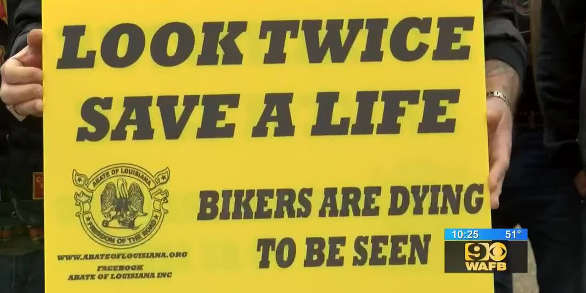 Bikers bring awareness to the importance of alertness while driving