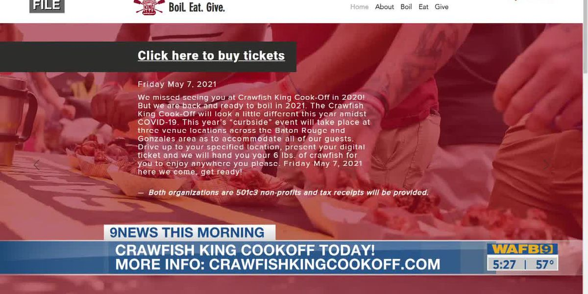 Crawfish king cookoff goes curbside today!