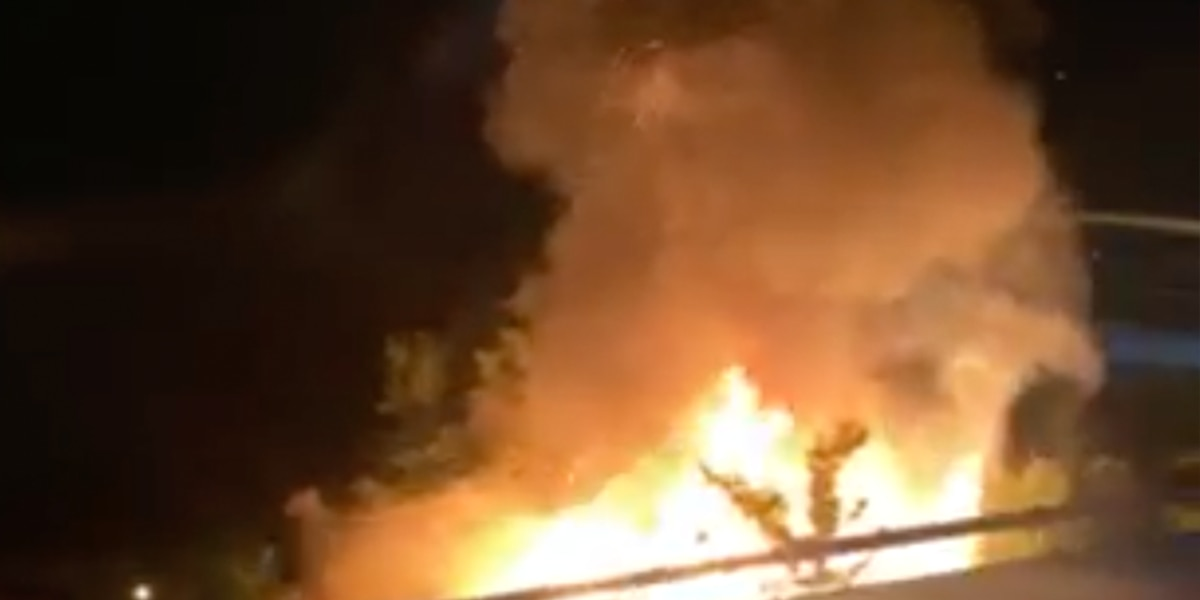 Flames visible from I-10 as crews battled Braddock Street house fire