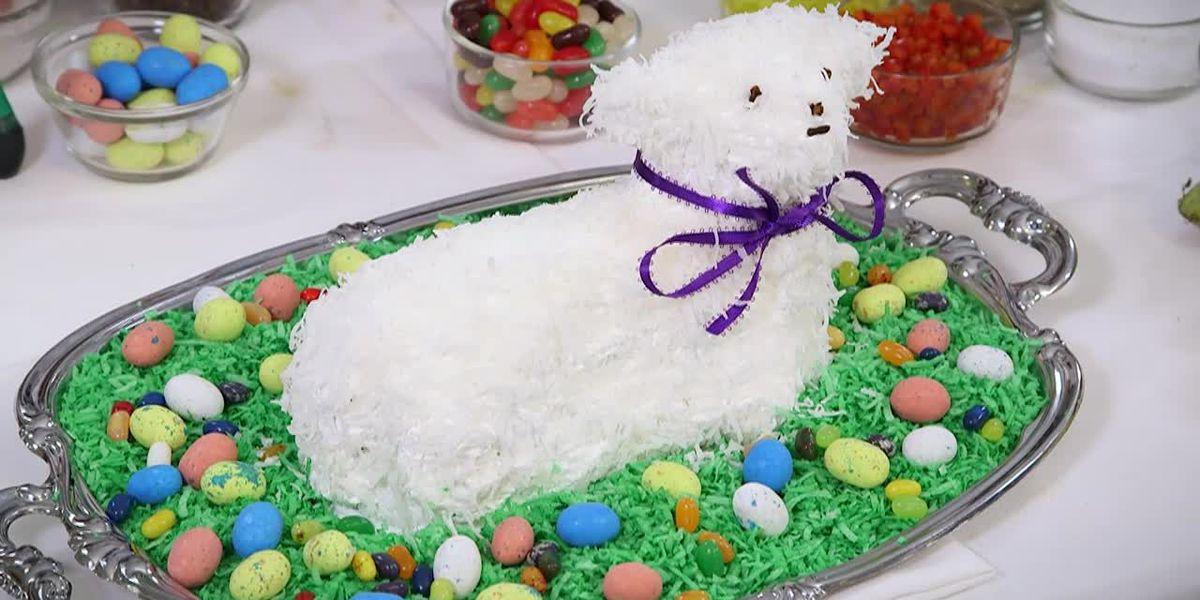 Bishop Duca's mother's Easter lamb cake